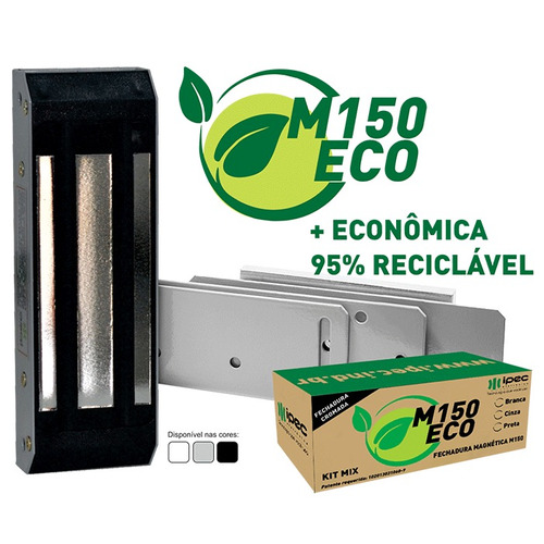 kit fechadura magnética eletroímã sem fio completo