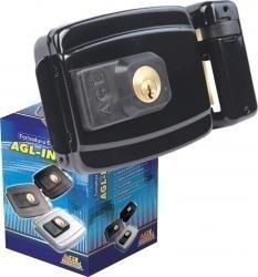 kit fechadura 'sem fio' elétrica acionador agl + 4 controles