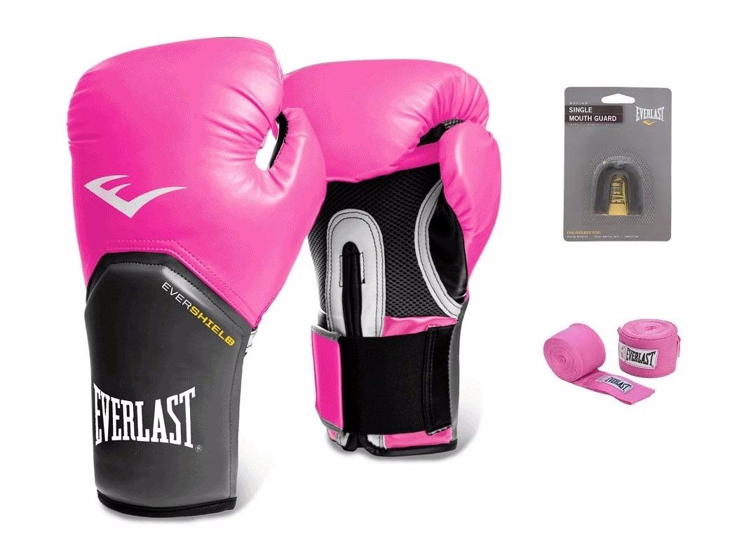 38a5162fe kit feminino boxe muay thai luva bandage bucal everlast rosa. Carregando  zoom.