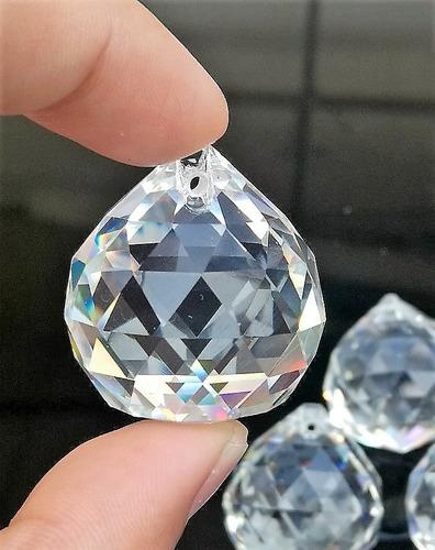 kit feng shui bola esfera multifacetada cristal k9 30mm