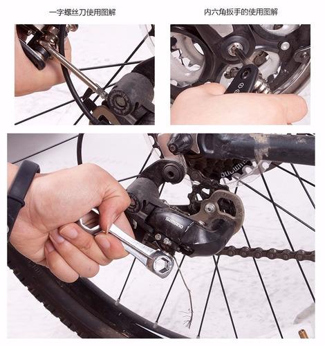 kit ferramenta bicicleta chaves bike remendo reparo  bolsa