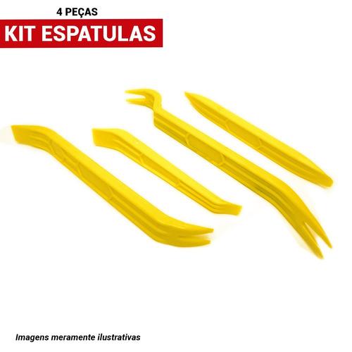 kit ferramenta espatulas nylon 4 pçs desmontar painel carros
