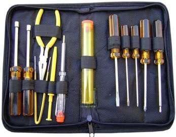 kit ferramentas 13 peças manutenção computador estojo zíper