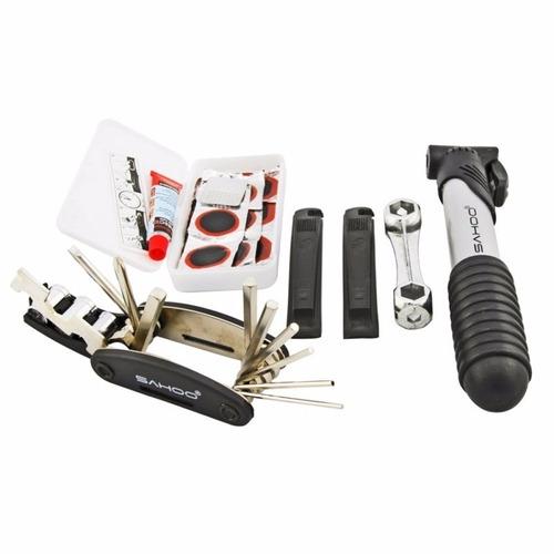 kit ferramentas bike chaves remendo reparo pneu bolsa quadro