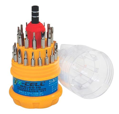 kit ferramentas chave philips torx fenda alien xcell 30 unid