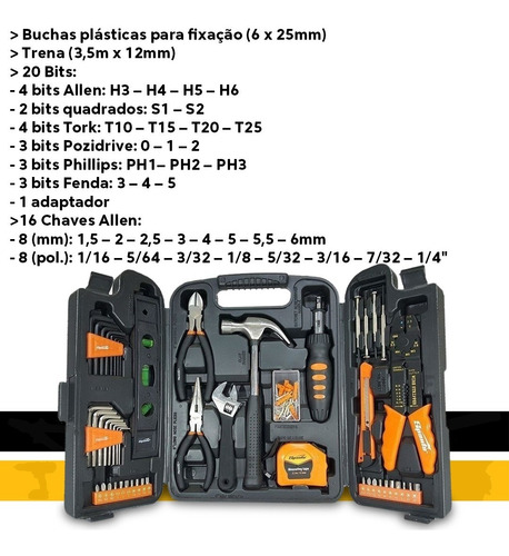 kit ferramentas chaves