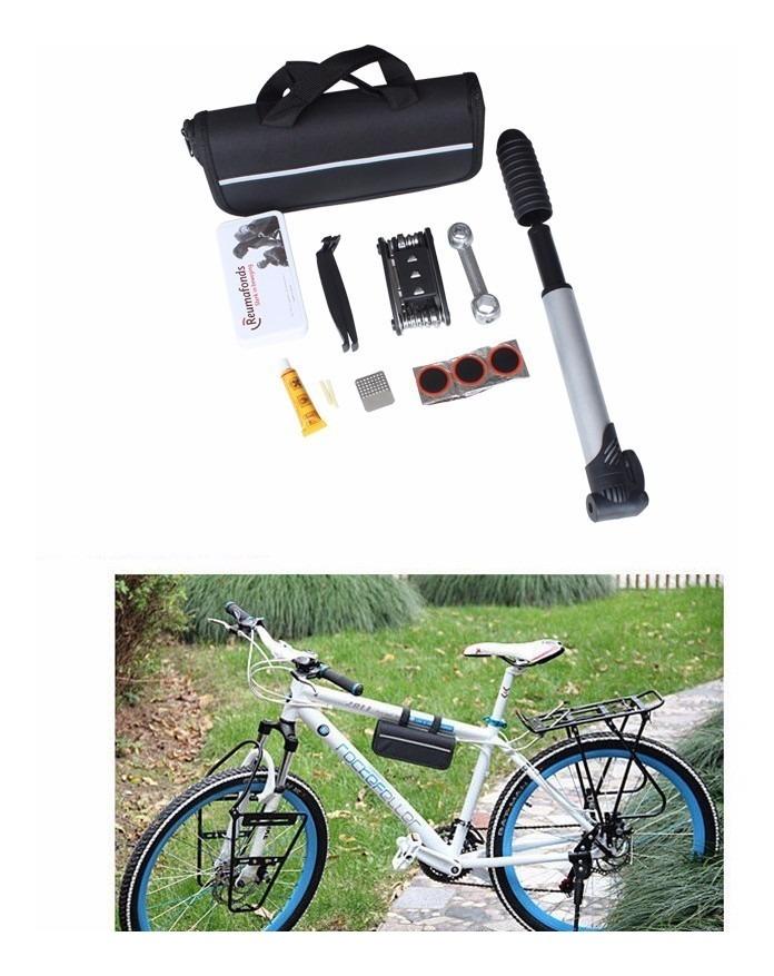 Reparo De Bicicleta Portátil Estojo Bolsa Kits de ferramentas Bike Ciclismo Pneu Ferramenta Multi-função