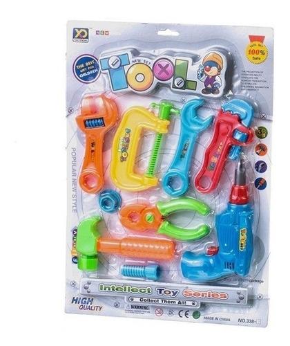 kit ferramentas infantil com furadeira oficina de brinquedo