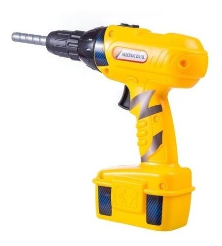 kit ferramentas infantil com parafusadeira furadeira a pilha
