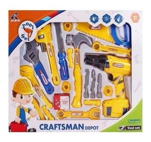 kit ferramentas infantil furadeira chaves acessorio completa