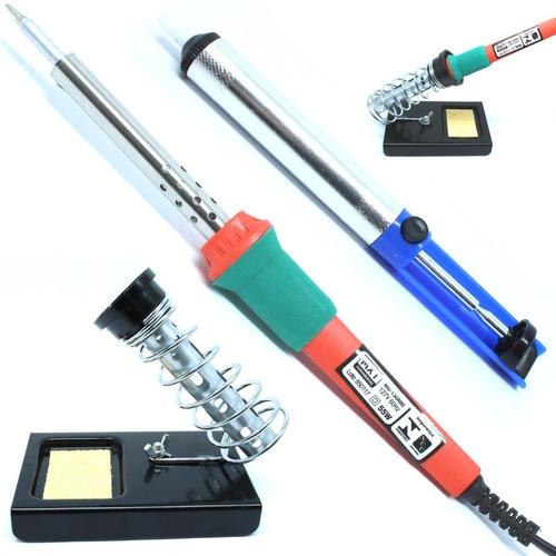 kit ferro de solda 110 v 220 volts + sugador + suporte mxt