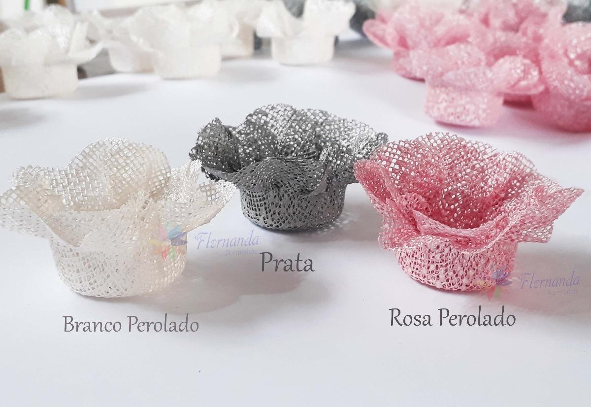 3c5f08eff Kit Festa 1000 Forminhas Flor Em Tela Luxo Casamento Anivers - R ...