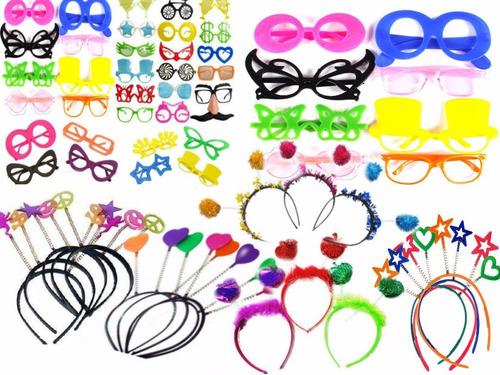 kit festa 120 óculos + 120 tiara - festa, casamento, 15 anos