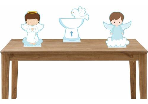 kit festa 3 displays de mesa batizado menino 2