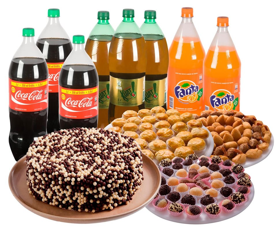 4d5e68eea4 kit festa 40 pessoas bolos salgados doces promoção brinde. Carregando zoom.