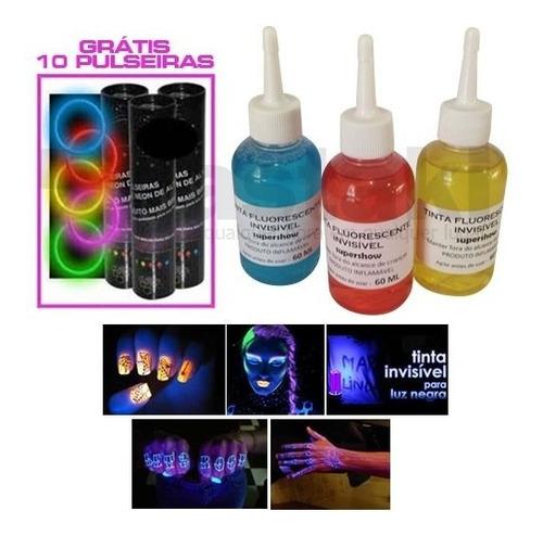 kit festa 5x1 laser strobo bola maluca luz negra 110v tintas