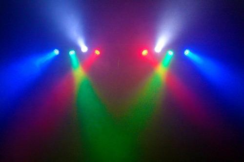 kit festa 8 canhões sequenciais led sk2400 jogo de luz dj