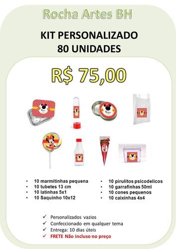 kit festa 80 itens personalizados mesa provençal