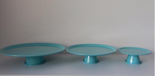 kit festa aluminio azul ( 02 vaso tulipa 10 cachepo 03 prato