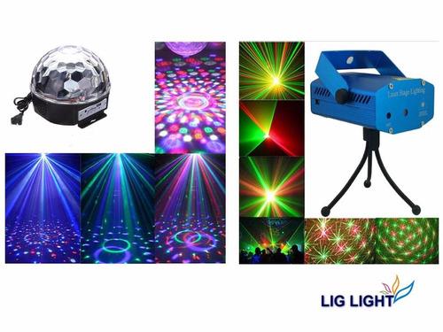 kit festa balada iluminação jogo de luz bivolt