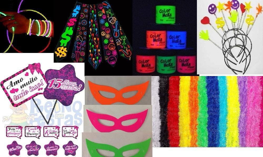 1b7e57721 kit festa balada neon 15 anos top. Carregando zoom.