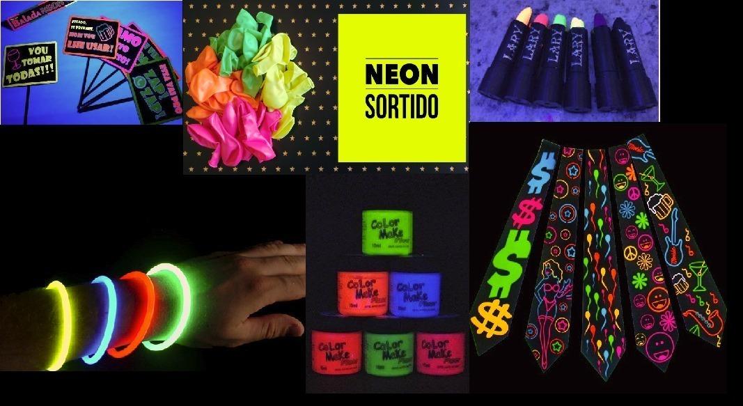 cf4c5c56b kit festa balada neon. Carregando zoom.