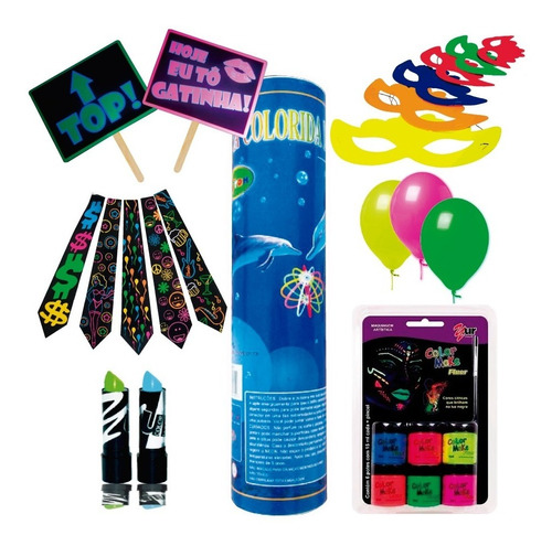 kit festa balada neon