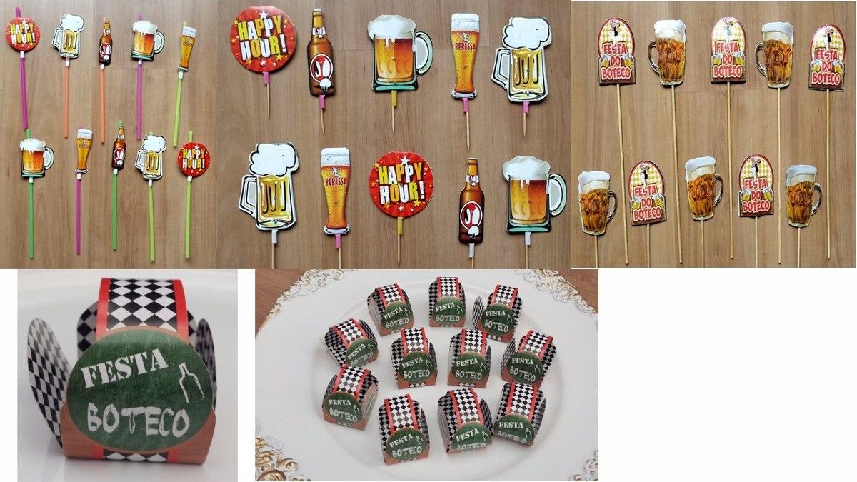 Aparador Rustica De Madeira ~ Kit Festa Boteco 2 110 Intens Decoraç u00e3o De Festa Boteco R$ 115,00 em Mercado Livre