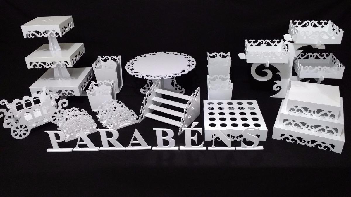 33333a874 kit festa branco lavável decoração provençal 31 pçs arabesco. Carregando  zoom.