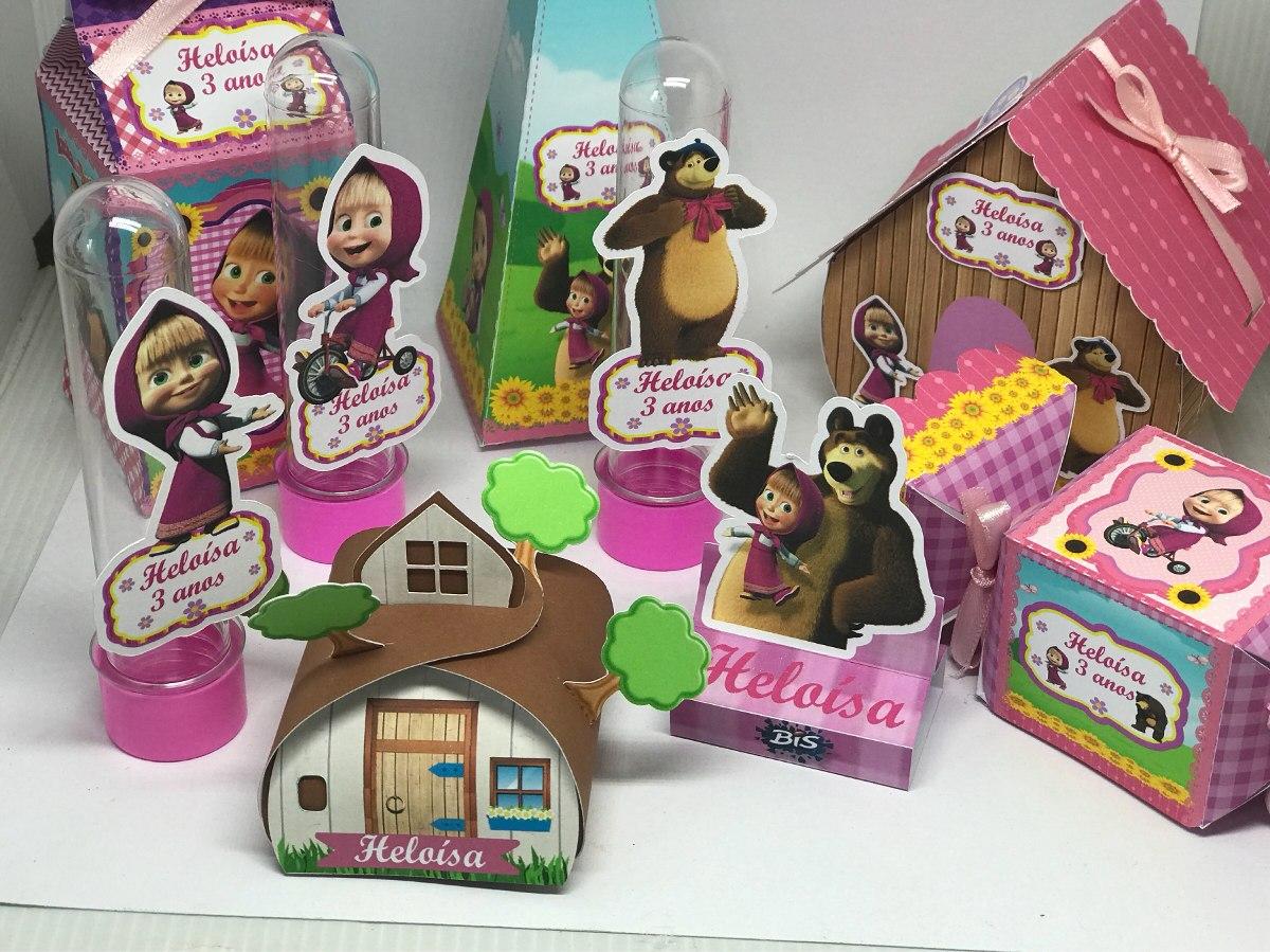 Kit Festa Completa Personalizado Masha E O Urso R 11990 Em