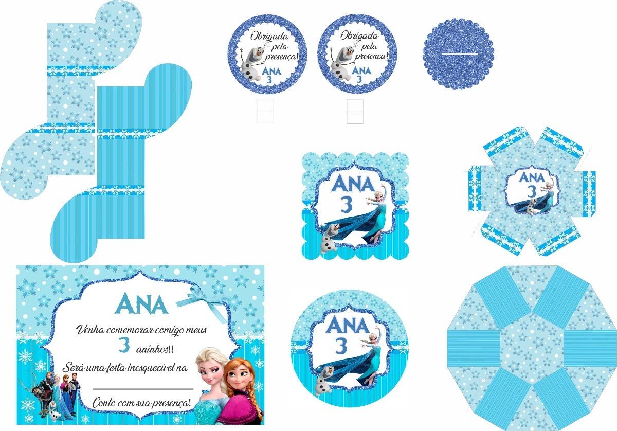 kit festa digital frozen para imprimir em casa r 35 00 em