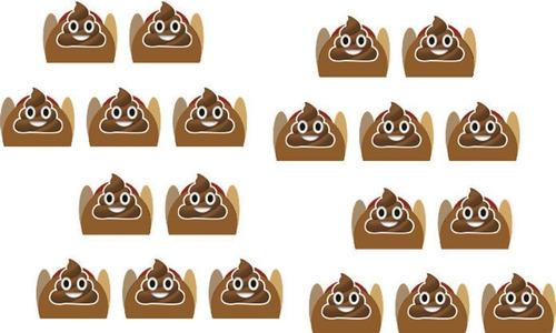 kit festa emoji cocô 61 peças