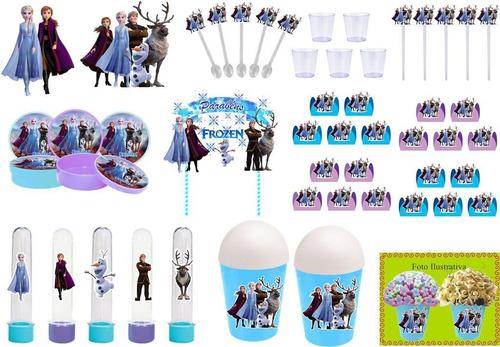 kit festa frozen 2 (105 peças) 10 pessoas