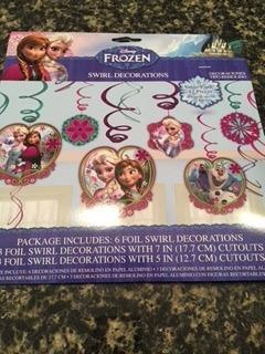 kit festa frozen - importado e original - 05 itens