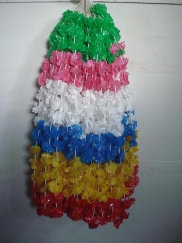 kit festa havaiana(saia pequena+colar+top c/06 cada) 18unid.