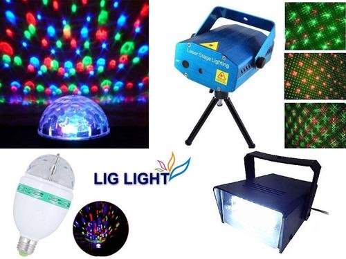 kit festa iluminação dj balada jogo de luz pronta entrega