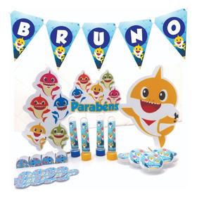 Kit Festa Infantil 130pçs - Baby Shark - Personalizado