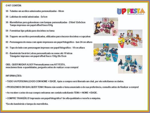 kit festa infantil 200pçs - patrulha canina - personalizado