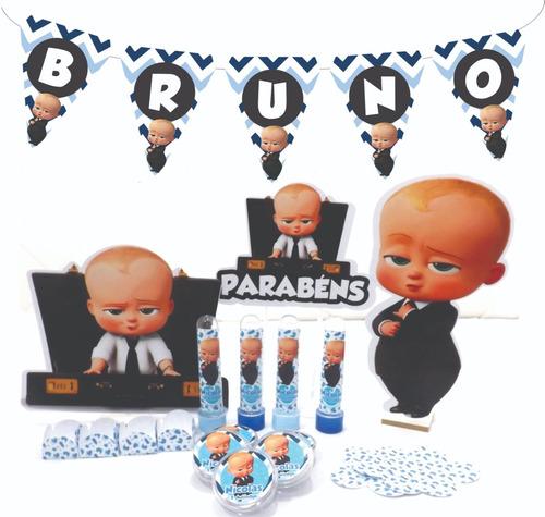 kit festa infantil 300pçs  o poderoso chefinho personalizado