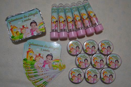 kit festa infantil com 100 lembranças personalizadas