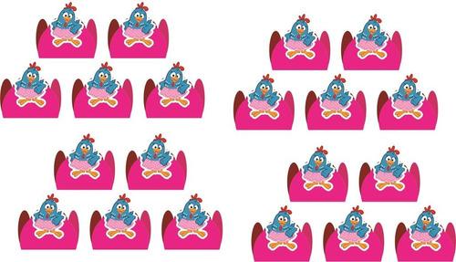 kit festa infantil galinha pintadinha menina 160 peças