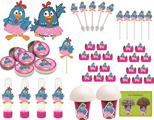 kit festa infantil galinha pintadinha menina 265 peças