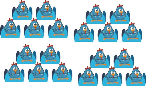 kit festa infantil galinha pintadinha menino 143 peças