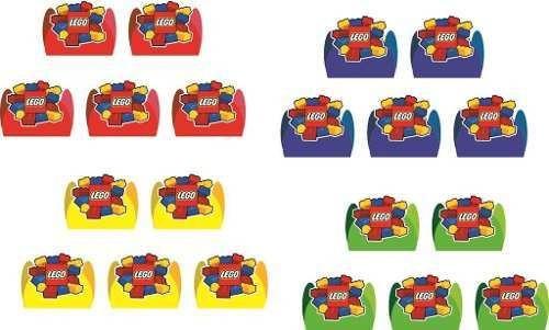 kit festa infantil lego 99 peças (10 pessoas)