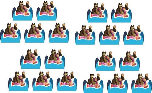 kit festa infantil masha e o urso (menino) 265 peças