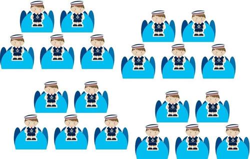 kit festa infantil menino marinheiro 143 peças