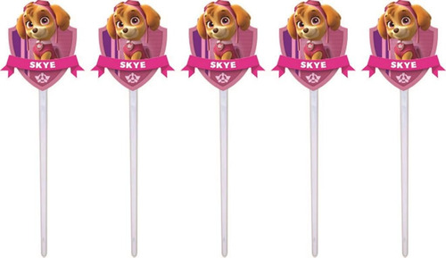 kit festa infantil patrulha canina menina (skye) 160 peças