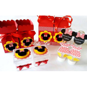 Kit Festa Infantil Personalizada Minnie Vermelha
