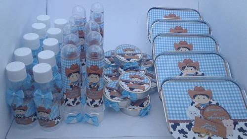 kit festa infantil personalizadas fazendinha 40 peças