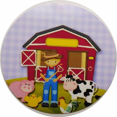 kit festa infantil personalizado 195 adesivos fazendinha 3